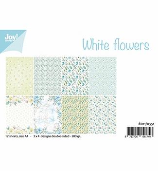 Joy! Crafts Papierset White Flowers 6011/0551  per stuk