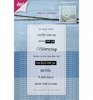 Joy! Crafts Clear Stamp Mery's Sterkte/Beterschap 6410/0479  per stuk