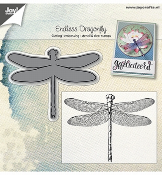 Joy! Crafts Clear Stamp + Snijmal Libelle 6004/0025