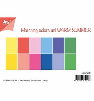 Joy! Crafts Papierset Warm Summer 6011/0563  per stuk