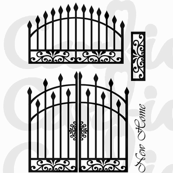 Card-io Clear Stamp Grand Gates CDCCSTGRA-02  per stuk