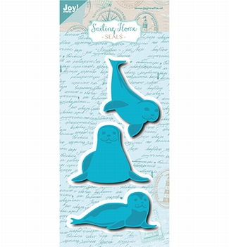 Joy Crafts Snijmal Sailing Home - Zeehondjes 6002/1129  per stuk