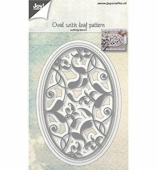 Joy Crafts Snijmal Ovaal met Bladpatroon 6002/1074  per stuk