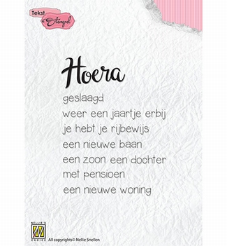 Nellie Snellen Clear Stamp Dutch Texts DTCS018