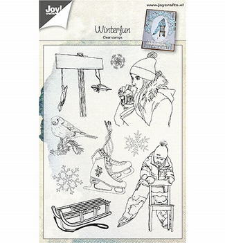 Joy! Crafts Clear Stamp Winterfun 6410/0494