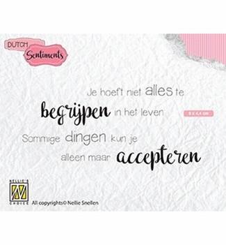 Nellie Snellen Clear Stamp Dutch Sentiments SENCS012
