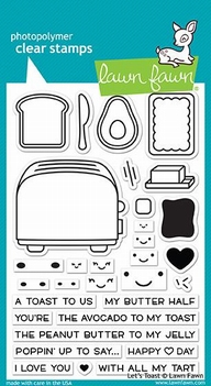 Lawn Fawn Clear Stamp Let's Toast LF1820