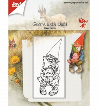 Joy! Crafts Clear Stamp Kabouter met Kind 6410/0511