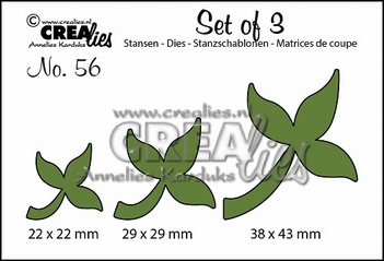 Crealies Set of Three nummer 56 Bladeren CLSET56