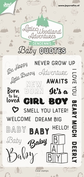 Joy! Crafts Clear Stamp Baby Quotes 6410/0515