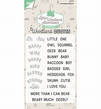 Joy! Crafts Clear Stamp Woodland Quotes 6410/0513