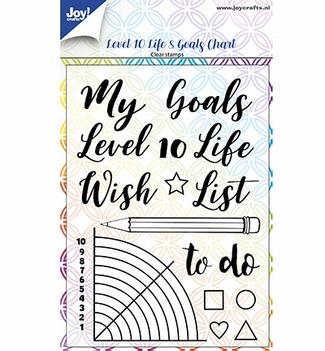 Joy! Crafts Clear Stamp Dayene Level 10 Life&Goals 6410/0518