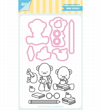 Joy! Crafts Clear Stamp+Snijmal Jocelijne Beer 6004/0041
