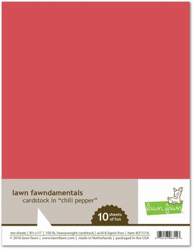 Lawn Fawn Cardstock in Chili Pepper LF1116