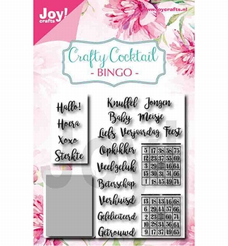 Joy! Crafts Clear Stamp+Snijmal Crafty Cocktail 6004/0039