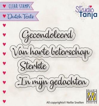 Nellie Snellen Clear Stamp Dutch Texts Gecondoleerd DTCS029