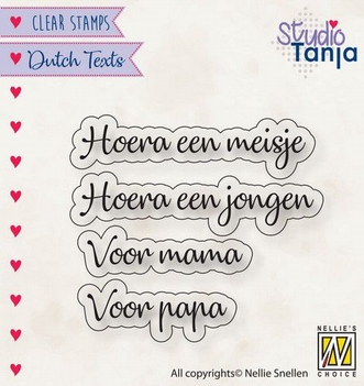 Nellie Snellen Clear Stamp Dutch Texts Baby DTCS028