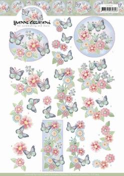 Yvonne Creations knipvel Funky Butterfly CD11449