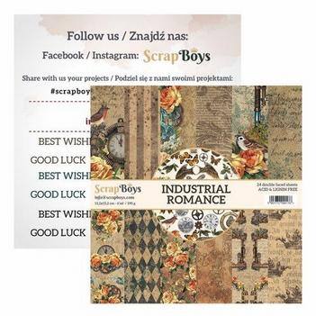 Scrapboys Papierblok Industrial Romance INRO-09