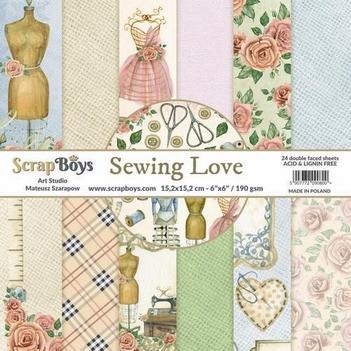 Scrapboys Papierblok Sewing Love SELO-09
