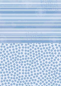Nellie Snellen Achtergrondvel Blue Flowers NEVA015