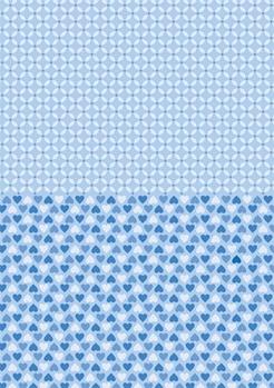 Nellie Snellen Achtergrondvel Blue Hearts NEVA011*