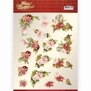Precious Marieke knipvel Touch Of - Pink Flowers CD11504