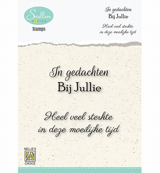 Nellie Snellen Clear Stamp Dutch Texts Condolence DCTCS005