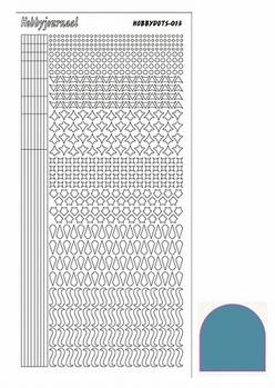 Hobbydots Sticker - Mirror - Turquoise STDM13D  per vel
