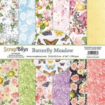 Scrapboys Papierblok Butterfly Meadow BUME-09
