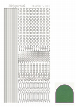 Hobbydots Sticker - Mirror - Green STDM062  per vel