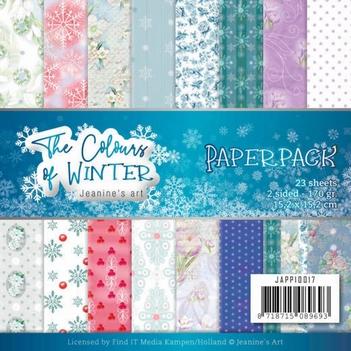 Jeanine's Art Papierblok The Colours of Winter JAPP10017