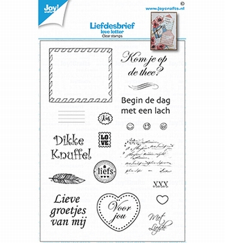 Joy! Crafts Clear Stamp Love Letters 6410/0538