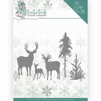 Yvonne Creations Die Winter Time - Deer in Forest YCD10217