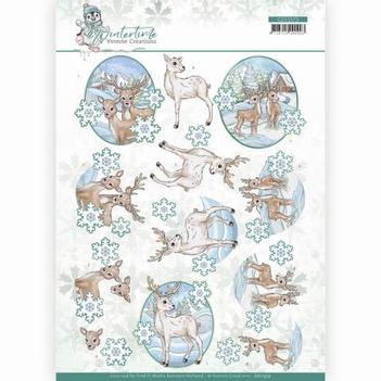 Yvonne Creations knipvel Winter Time - Deer CD11573