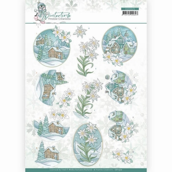 Yvonne Creations knipvel Winter Time - Edelweiss CD11572