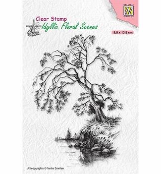 Nellie Snellen Clear Stamp Tree on Waterside IFS030