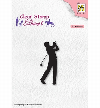 Nellie Snellen Silhouette Clear Stamp Golfer SIL069