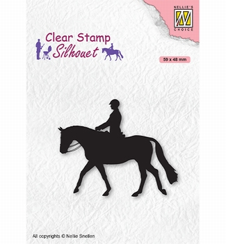 Nellie Snellen Silhouette Clear Stamp Horseman SIL068