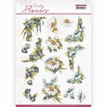 Precious Marieke knipvel Pretty Flowers-Blue Flowers CD11581