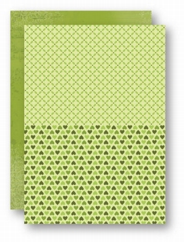Nellie Snellen Achtergrondvel Groen Hearts NEVA026*
