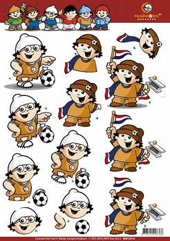 Mainzel Männchen 3D Knipvel Voetbal Nederland MM10014