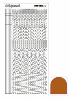 Hobbydots Sticker - Mirror - Brown STDM13G