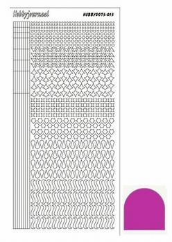 Hobbydots Sticker - Mirror - Pink STDM13F  per vel