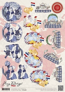Amy Design knipvel Maps Holland CD10386*