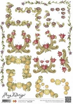 Amy Design knipvel Regular Art Nouveau CD10268*  per vel