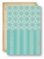 Nellie Snellen Achtergrondvel Turquoise Ornament NEVA050*