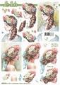 Le Suh Knipvel Dame met Bloemen 8215716 per vel