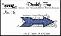 Crealies Double Fun Snijmal nr. 16 CLDF16*