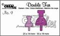Crealies Double Fun Snijmal nr. 9 CLDF09